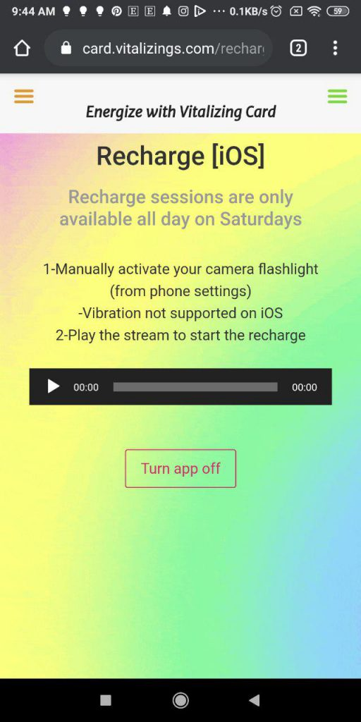 Recharge a Card on Apple iOS Mobile Phone